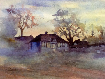 Clubhouse Painting by Brenda Davis