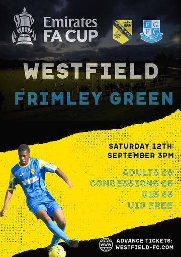 Frimley Green FA Cup poster