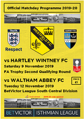 Hartley & Waltham programme cover
