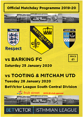 Tooting programme cover